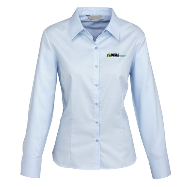 TECHNOLOGY SOLUTIONS LADIES SHIRT LIGHT BLUE - LONG SLEEVE
