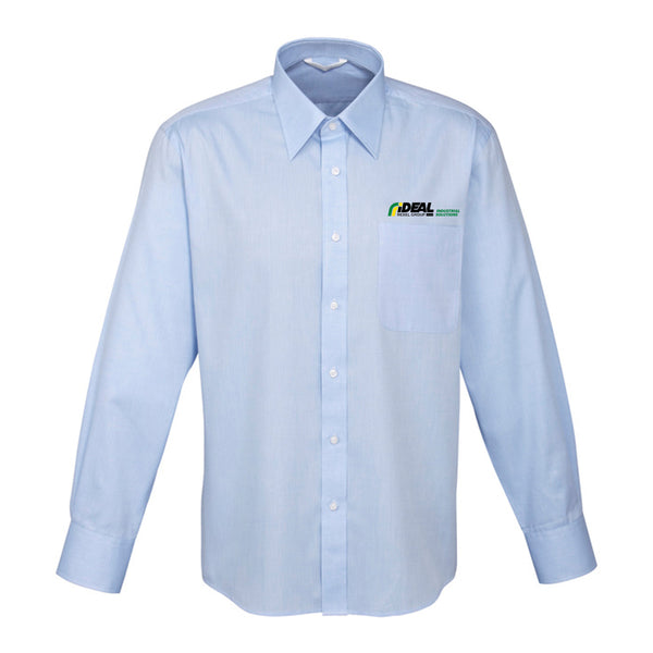 INDUSTRIAL SOLUTIONS MEN'S LONG SLEEVE LIGHT BLUE SHIRT