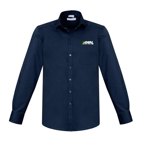 CORPORATE MEN'S LONG SLEEVE NAVY SHIRT