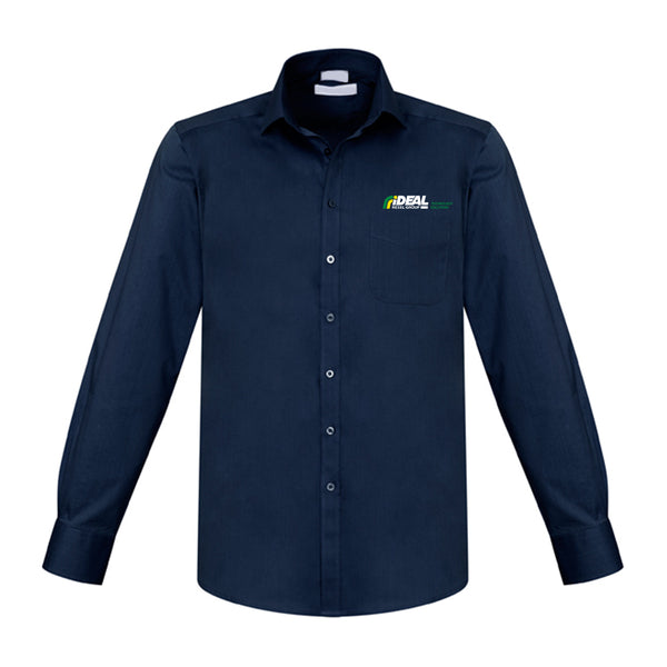 TECHNOLOGY SOLUTIONS MEN'S LONG SLEEVE NAVY SHIRT