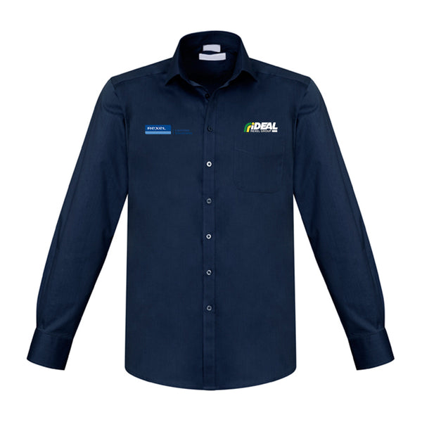 REXEL LIGHTING MEN'S LONG SLEEVE NAVY SHIRT