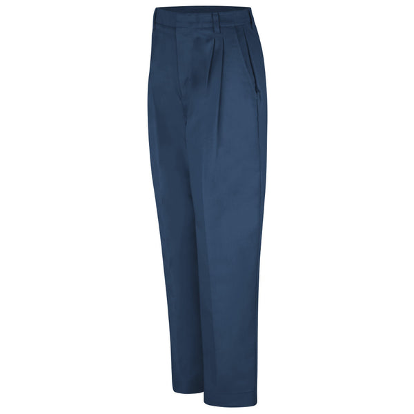 WOMEN'S PLEATED TWILL SLACKS