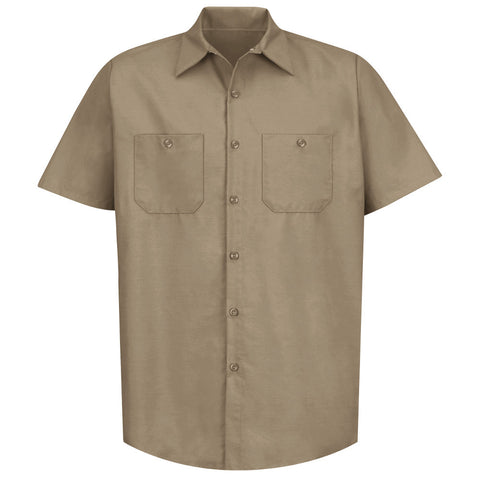 SP24 RED KAP INDUSTRIAL SOLID WORK SHIRT KHAKI