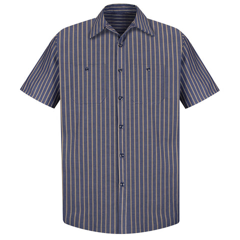 stripe mens shirt uniform work shirt mens clothing