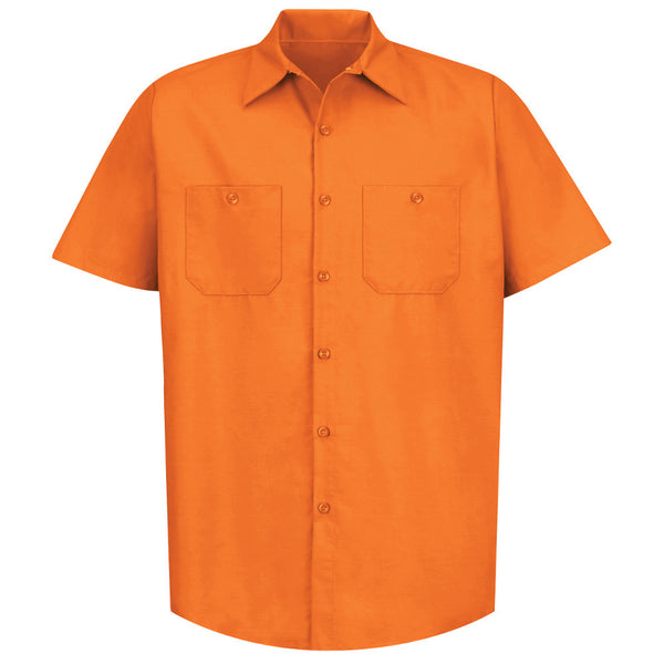 SP24 RED KAP INDUSTRIAL SOLID WORK SHIRT ORANGE
