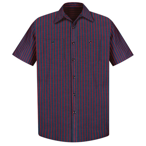 striped mens work shirt uniform mens clothing