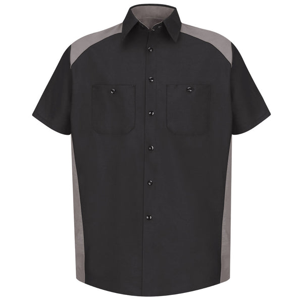 Red Kap Motorsports Shirt SP28 Black Grey