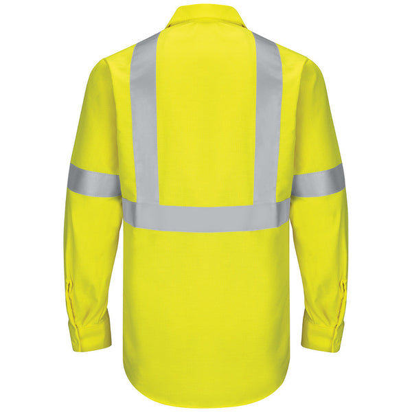 HI VIS RIPSTOP WORKSHIRT: CLASS 2 LEVEL 2