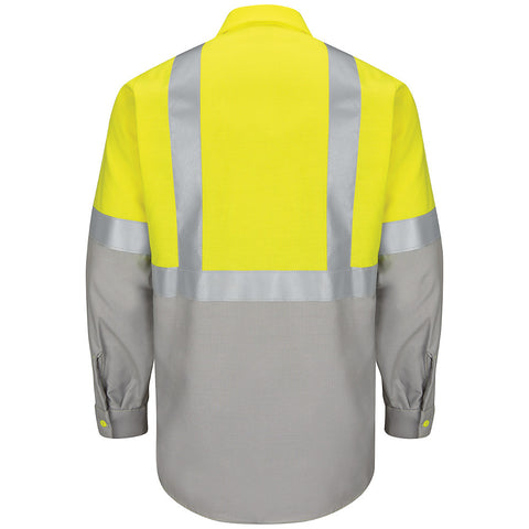 HI VIS BLOCK WORK SHIRT: CLASS 2 LEVEL 2