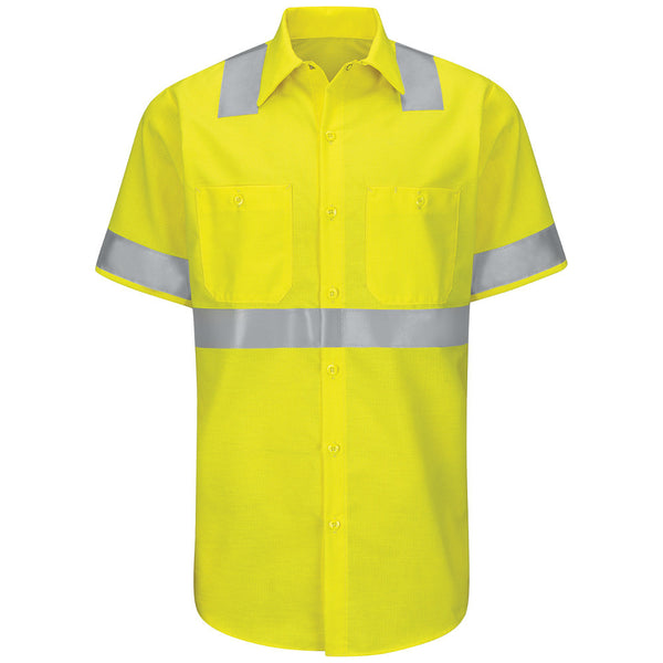 HI-VIS RIPSTOP WORK SHIRT: CLASS 2 LEVEL 2