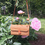 Leandra crossbody Bali Basket Purse With Spring Flowers