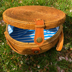 Lily Moon Bag - Blue Stripe
