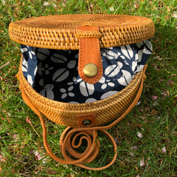 Lily Moon Bag - Navy Coffee Bean