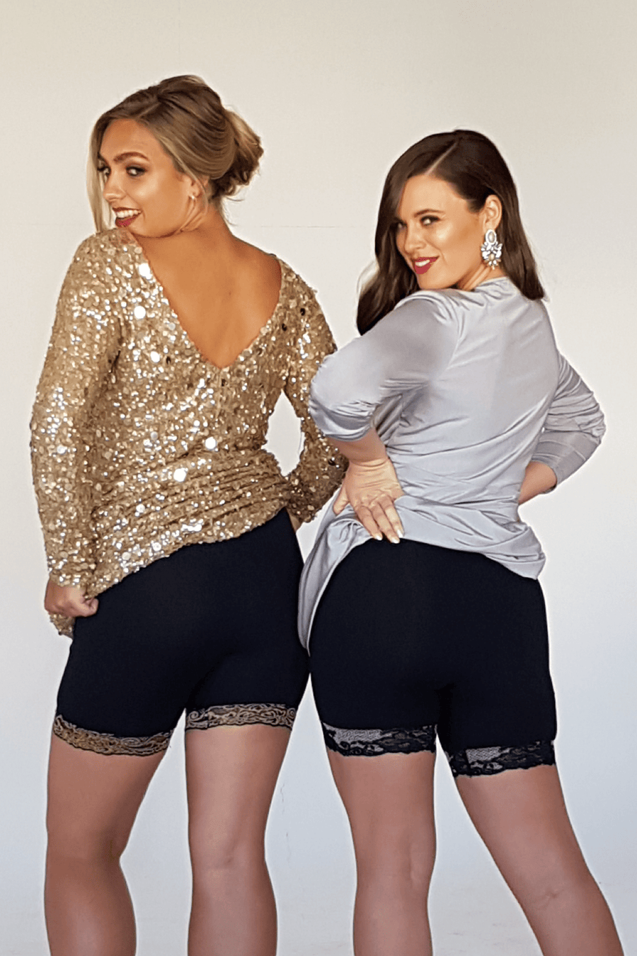 Miss Monroes 08-10 / Mid 'Silver Screen Goddess'<br> (SHORT LEG)<br> Anti Chafing Shorts