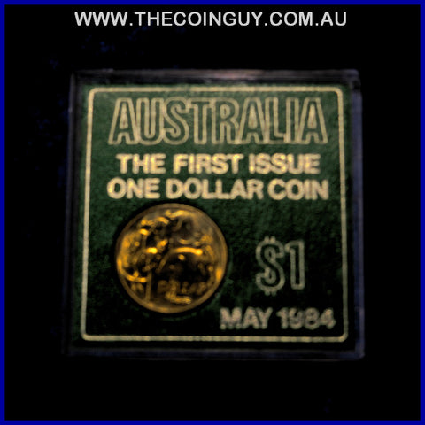 1984 Australian $1 The First Issue In Plastic Box Carded Specimen