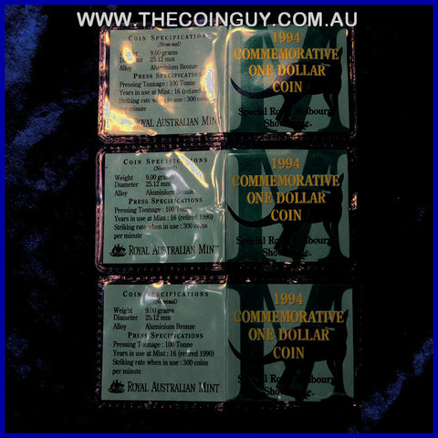 1994 Australian $1 Commemorative Royal Melbourne Show Issue In Plastic Pouch Carded Specimen