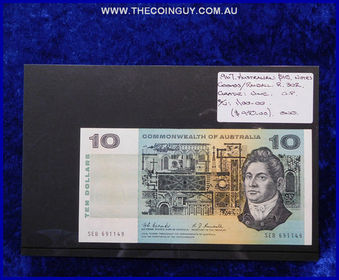 1967 Australian Ten Dollar Notes Unc