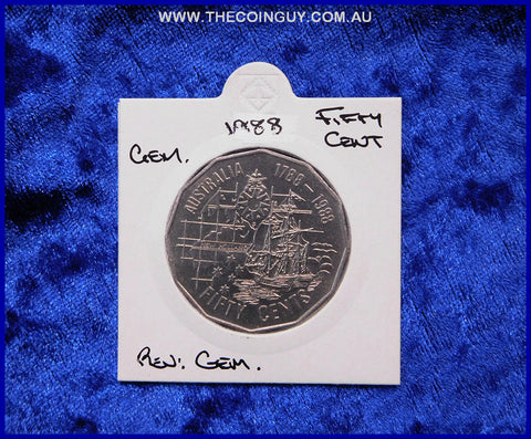 1988 Australian Fifty Cent Coins Gem