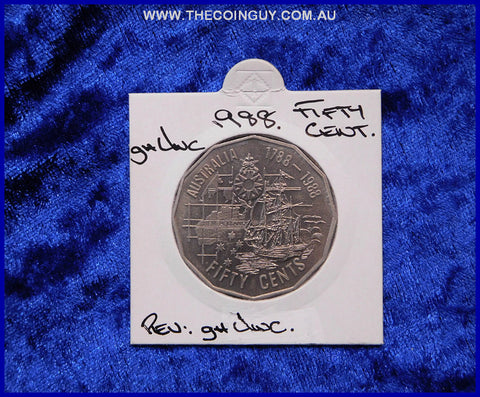 1988 Australian Fifty Cent Coins ghUnc