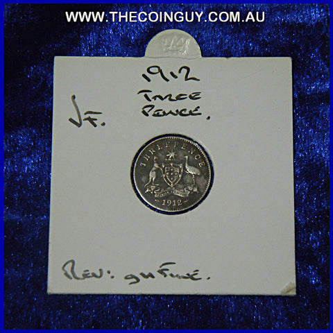 1912 Australian Threepences  VF