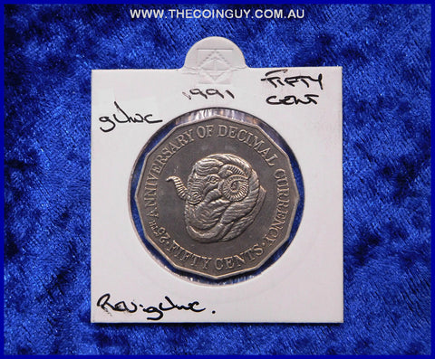 1991 Australian Fifty Cent Coins gUnc