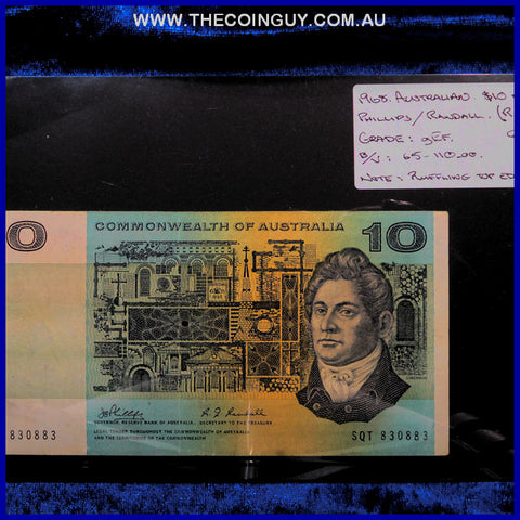 1968 Australian Ten Dollar Notes gEF