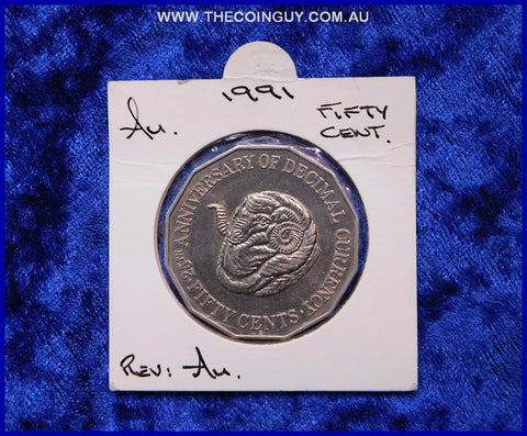 1991 Australian Fifty Cent Coins Au