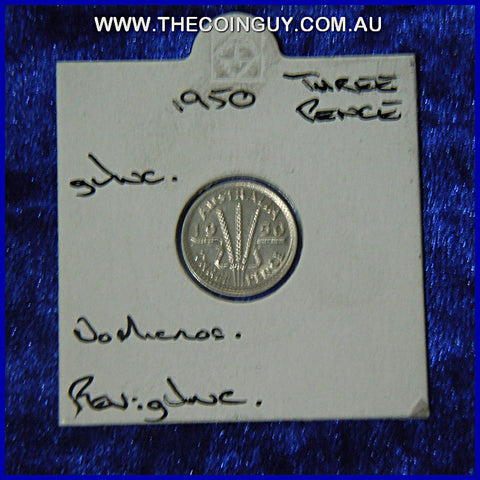 1950 Australian Threepences  gUNC