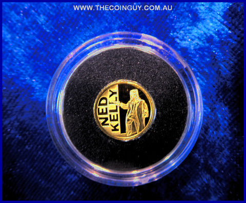 2012 Niue $2 Ned Kelly Coin  .05g 24 ct 999 Proof