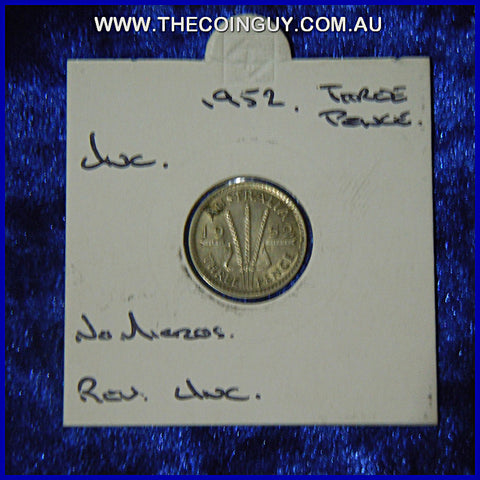 1952 Australian Threepences  Unc