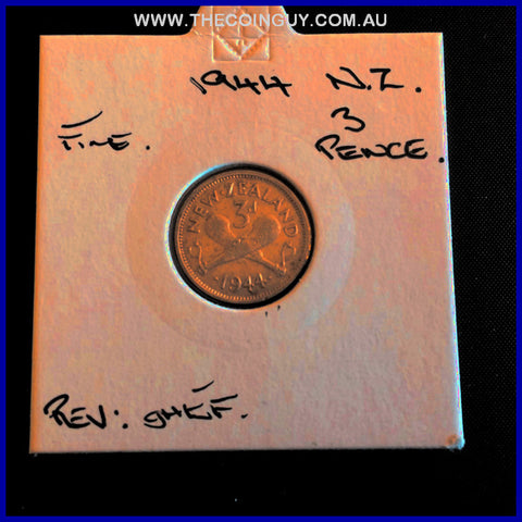 1944 New Zealand Three Pence Fine