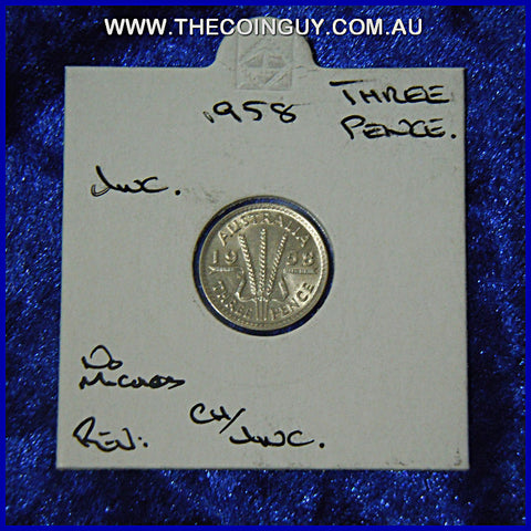 1958 Australian Threepences  Unc