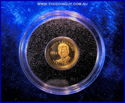 2013 Samoa  $1 John F Kennedy Coin .05g 24 ct 999 Proof