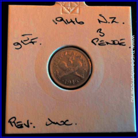 1946 New Zealand Three Pence gEF