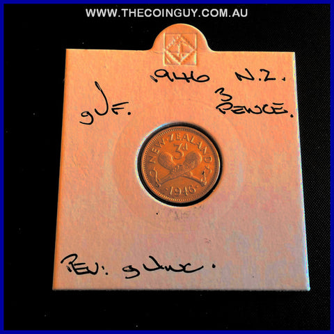 1946 New Zealand Three Pence gVF