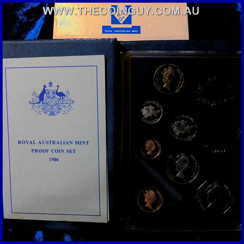 1986 Australian Proof Sets In Box