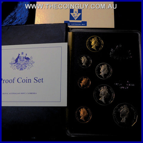 1987 Australian Proof Sets In White Box