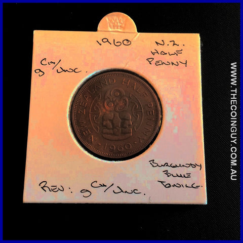 1960 New Zealand Half Penny  gChUNC