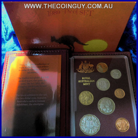 1989 Australian Proof Sets Kangaroo at Sunset
