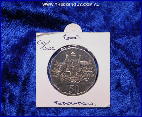 2001 Australian Fifty Cent Coins Federation Ch/Unc