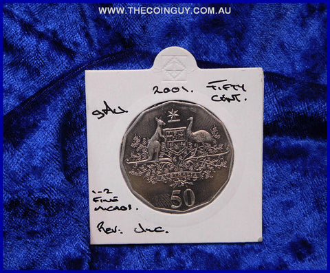 2001 Australian Fifty Cent Coins Federation gAu