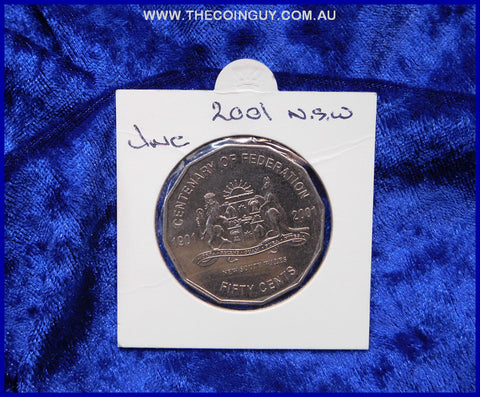 2001 Australian Fifty Cent Coins New South Wales Unc