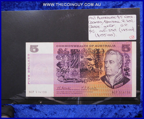 1967 Australian Five Dollar Notes ghEF