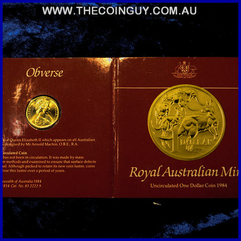 1984 Australian $1 The First Issue Carded Specimen