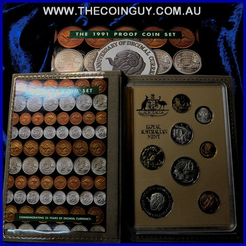 1991 Australian Proof Sets 25th Anniversary Of Decimal Currrency