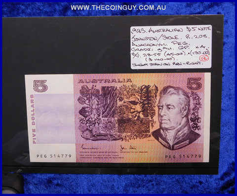 1983 Australian Five Dollar Notes gAu