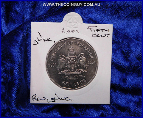 2001 Australian Fifty Cent Coins ACT gUnc