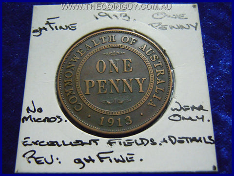 1913 Australian One Penny ghFINE