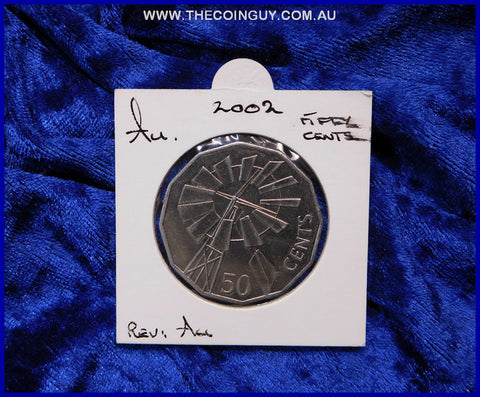 2002 Australian Fifty Cent Coins  Au