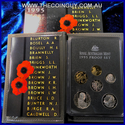 1995 Australian Proof Sets 50th Anniversary Of the End Of WW2
